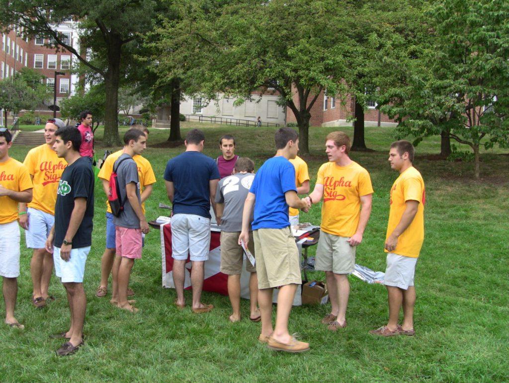 new members greek fraternity rush